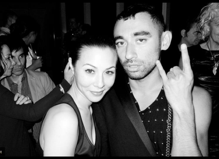 China Chow and Nicola Formichetti  wearing  ROdirgo Otazu