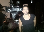 rodrigo Otazu at the set of Mugle for Nicola Fornichetti filming gaga for the show