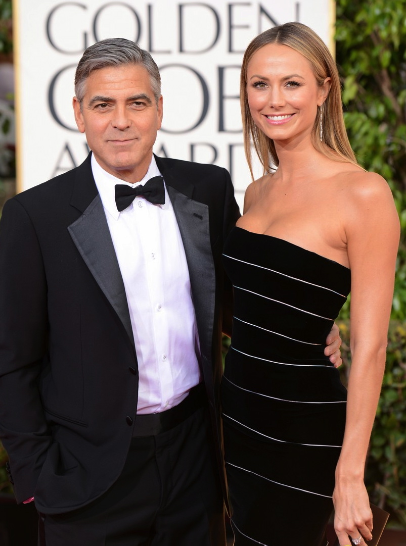 George Clooney & Stacy Keibler  walk down the red carpet with my New diamond collection