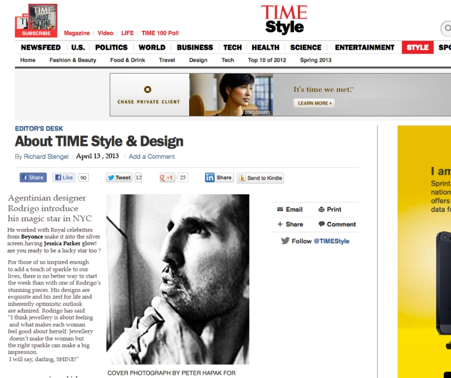 New York times USA talks about  Argentinian designer Rodrigo Otazu about his Lucky star New Brand RODRIGO-NYC